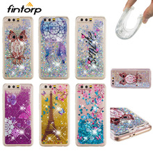 Painted Liquid Quicksand Case For Huawei Honor 7C Pro 9 8 7X 6A 5C 4C 6C Cases for Y6 II Y5 Y3 Y7 Prime 2018 2017 Bumper