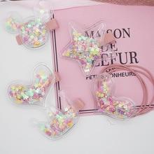 New Korean Childrens Transparent Crown Love Stars Mickey Hair Clips Sweet Girl Cute Imitation Pearl Bag Hairpins Rope
