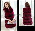 Real Racoon Fur Gilets Natural Fur Vests Women Waistcoat 100% Real Fur Sleeveless AU00797