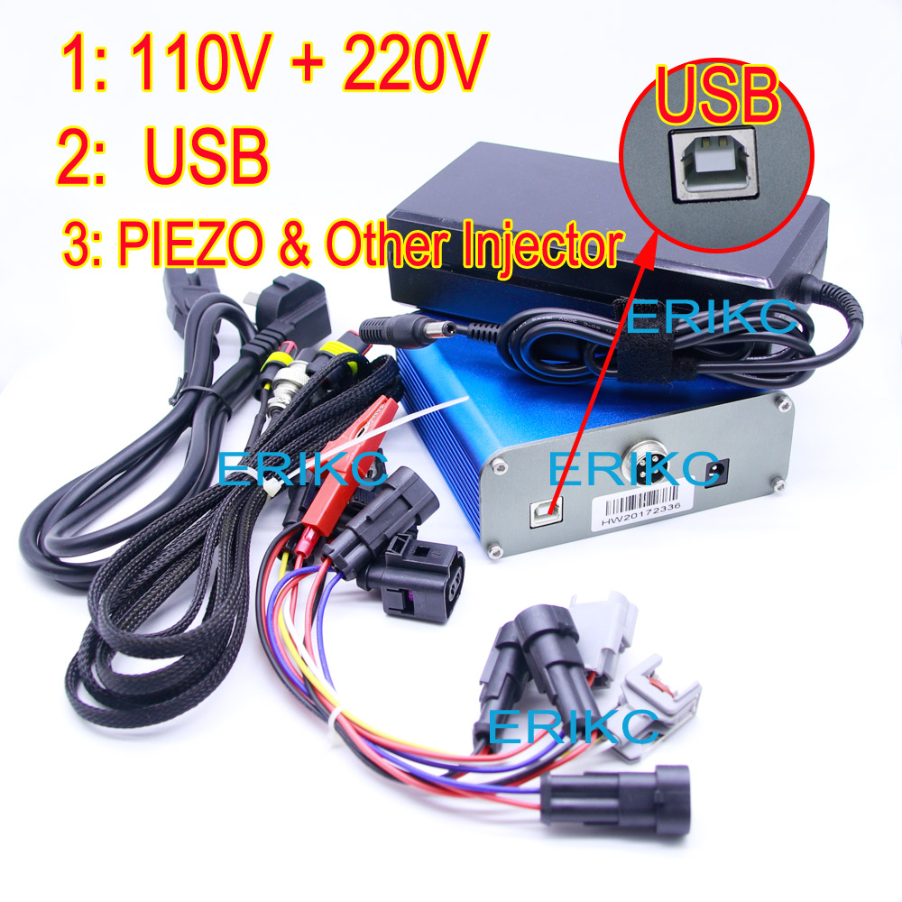 ERIKC Common Rail Fuel Injector Test Equipment Car Universal Diagnostic Machine Piezo And Electromagnetic Fuel Injector