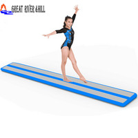 easy take and easy store inflatable air beam for girls gymnastics training 10ftx17.7inchx4inch