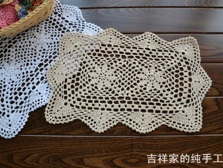 6 pcslot 100 cotton shabby chic vintage look crocheted doilies 6 pcslot 100 cotton shabby chic vintage look crocheted doilies wedding party decoration square mat barkitchen supplies in mats pads from home garden dt1010fo