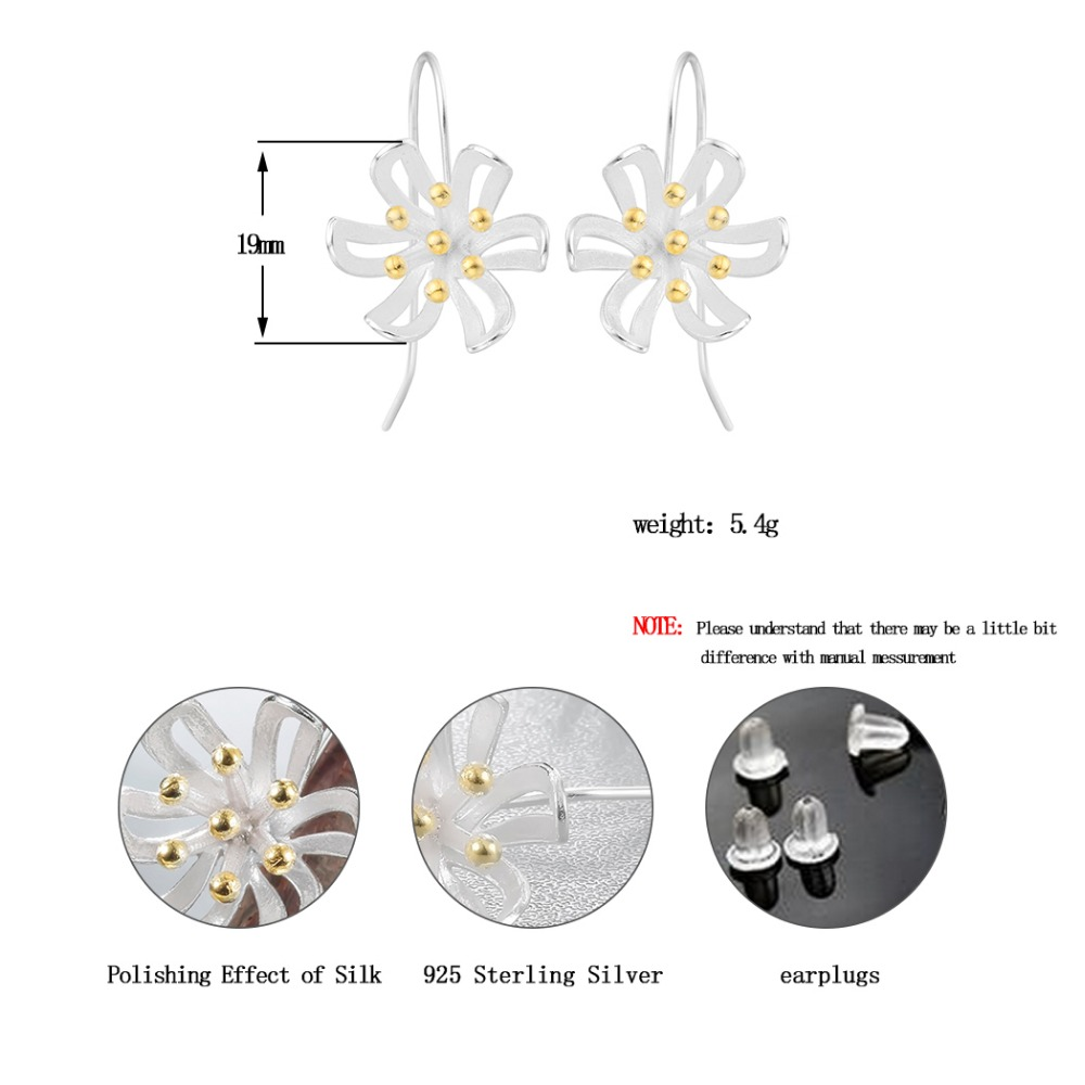 Chereda Charms Flower Drop Earrings Sltering Fashion Plant For Women Jewelry in Drop Earrings from Jewelry Accessories