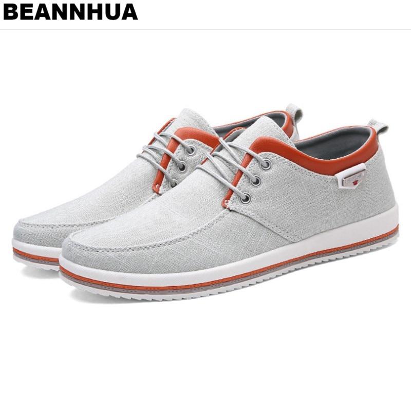 Ayakk.'ten Erkek Rahat Ayakkabılar'de BEANNHUA Marka Erkek rahat ayakkabılar 3 Renk Toptan ve perakende Yüksek Kalite Drop Shipping 047'da  Grup 1