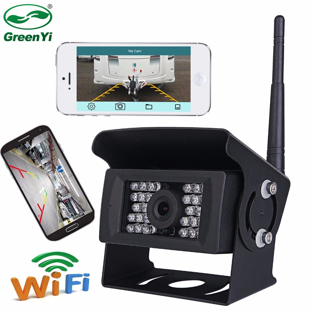 Us 51 99 19 Off Cctv Dc 12v 24v Wifi Wireless Vehicle Reverse Backup Camera For Truck Rv Camper Trailer Support Ios And Android Phone System In