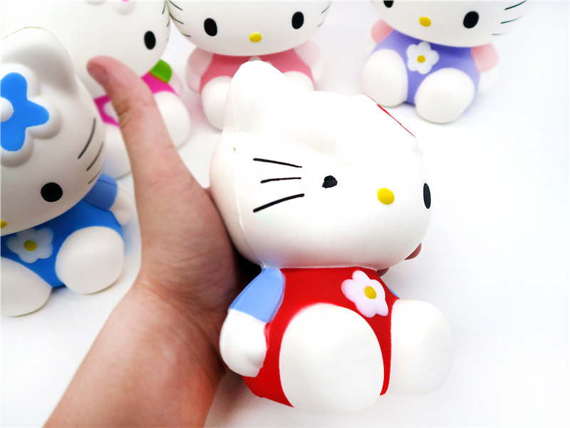 4pcs lot KT cat doll 5 styles Original packaging Hello Kity Large furnishing articles Slow rising bread Cute cartoon squishy in Squeeze Toys from Toys Hobbies