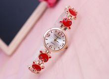 new arrival cute bracelet watch flower bracelet magnificence pretty alloy watch for woman wrap quartz gown watch