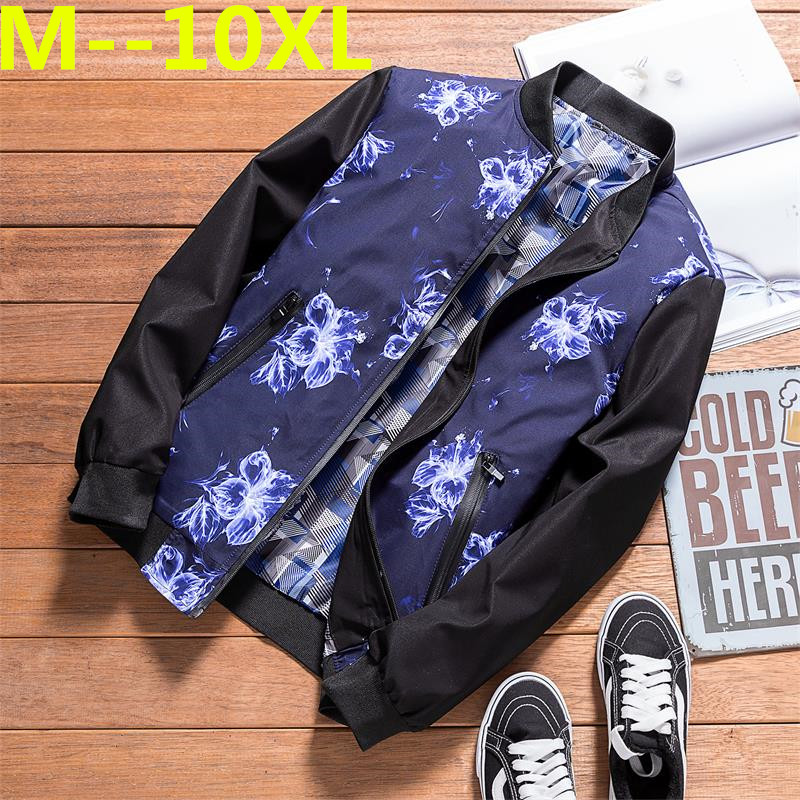 Plus size 10XL 9XL 8XL 6XL 5XL 4XL brand clothing 2018 NEW Spring Winter Windbreaker Men Coat bomber jacket cotton coats men men plus size 4xl 5xl 6xl 7xl 8xl 9xl winter pant sport fleece lined softshell warm outdoor climbing snow soft shell pant
