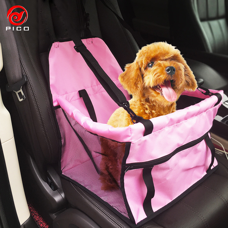 Folding Vehicle Pet Carrier Safety Mesh Dog Car Seat Protector For ...
