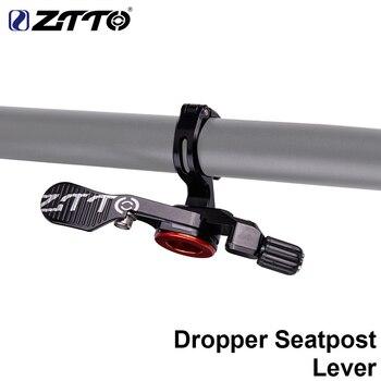 ZTTO bicicleta cuentagotas tija de sillín Control remoto MTB asiento de bicicleta de carretera y de montaña interruptor de tubo altura Cable palanca ajustable