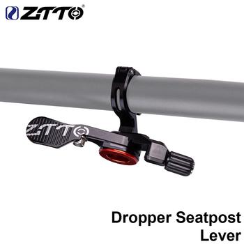 ZTTO zakraplacz rowerowy sztyca zdalna kontrola drutu MTB do roweru szosowego i górskiego sztyca podsiodłowa przełącznik wysokości kabla regulowana dźwignia tanie i dobre opinie 20-22 5mm Poziome kierownica one-shaped kierownica 701-800mm Cable Lever ZTTO Dropper Remote Ze stopu aluminium ze stopu aluminium
