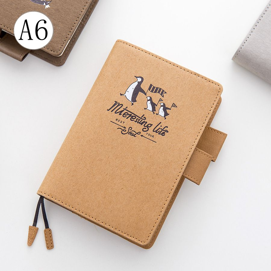 Cute Life Cartoon Penguin Theme Hobonichi Fashion Journal Book DIY Scheduler Agenda Diary Gift Free Shipping sosw fashion anime theme death note cosplay notebook new school large writing journal 20 5cm 14 5cm