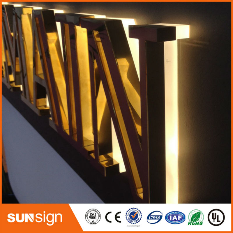 3d Effect Led Backlit Letter Signage