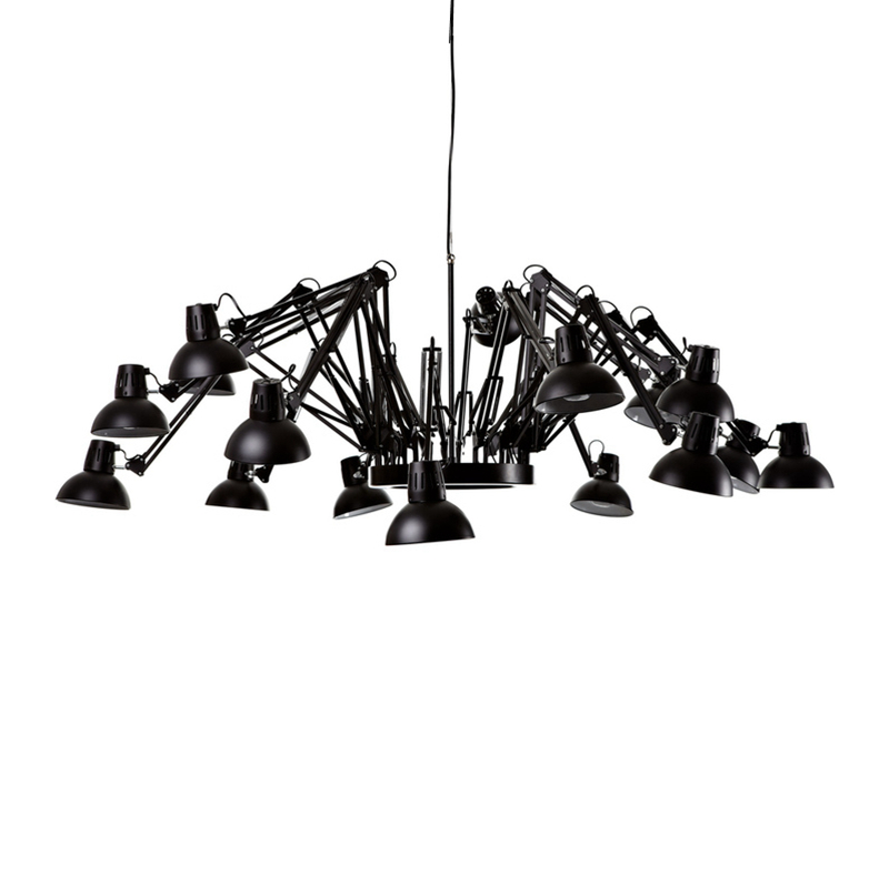 12 light black white red color body spider LED pendant light decorative with warm 2700K white color 6000K 8W LED lamp by EPRESS  free shipping black white red color spider led pendant light decorative with warm white 2700k white color 6000k 8w e27 led lamp
