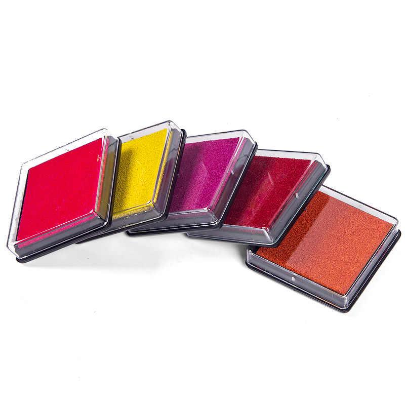 Nhiều loại tùy chọn 4 cm Mực Miếng Lót Thêu Sò Nhiều Màu Sắc Inkpad Tem Niêm Phong Trang Trí Vân Tay Stencil Thẻ Làm Đồ trang trí