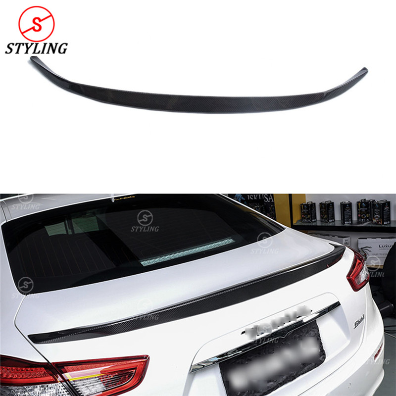 For Maserati Ghibli Novitec Style Carbon Fiber rear spoiler Rear trunk wing Car Styling Gloss Black for Ghibli Spoiler 2014 - UP пылесос ghibli classic briciolo 15856410001