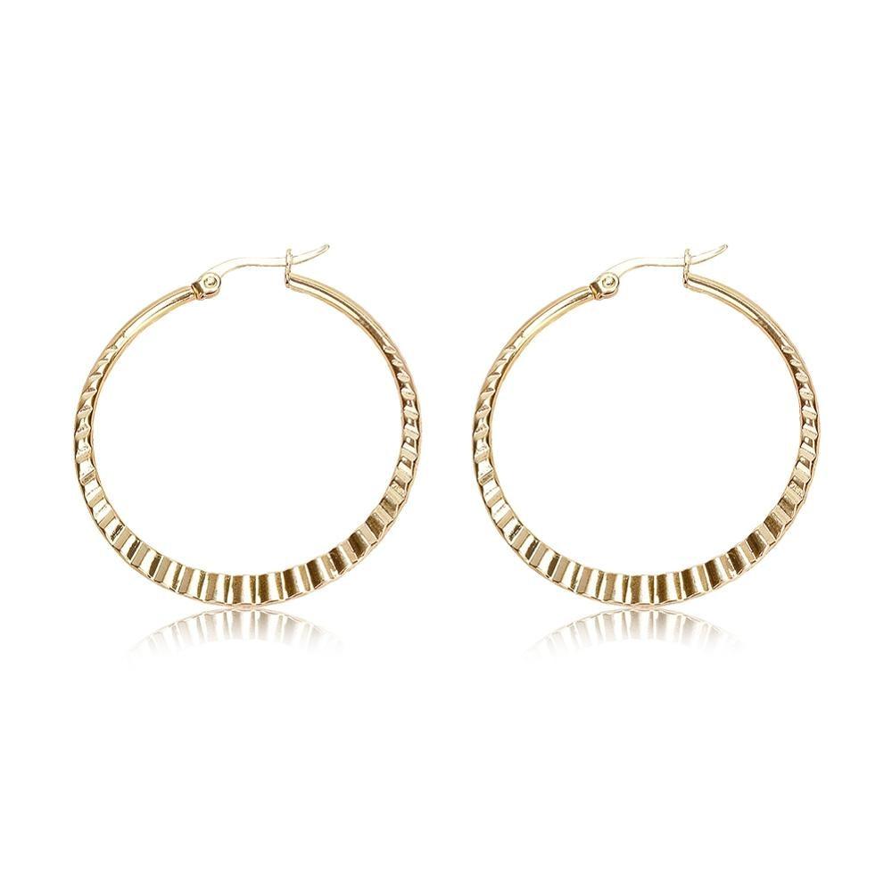Big Earrings Stainless Steel Hoop Earrings for Basketball Wives Jewelry Christmas Gift