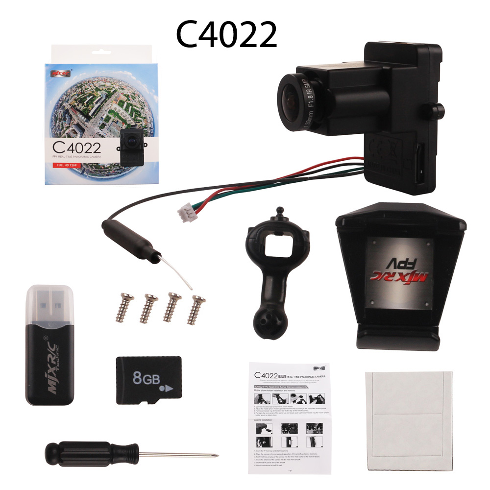 MJX C4020 Camera C4022 360 degree WiFi Panoramic camera C5820 5.8G FPV camera for Bugs 3 B3 Helicopter квадрокоптер mjx bugs 3 c4020