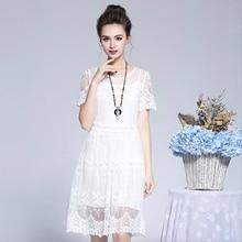 dress Womens Dresses Summer 2018 New Fairy Medium-length Mesh Embroidered