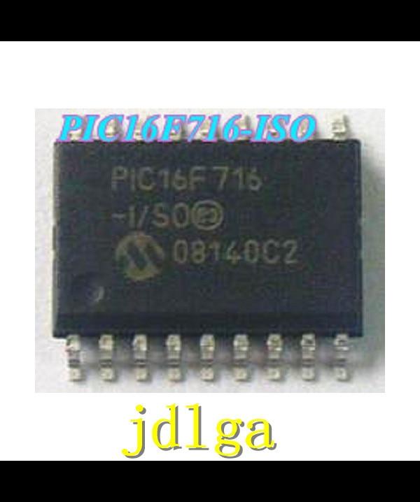 FREE shipping 10PCS/LOT 100% NEW PIC16F716-I/SO   IC PIC MCU FLASH 2KX14 18SOIC RoHS Originalfreeshipping
