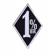 1%ER Motorcycle Biker Vest Patches Embroidered Iron On Patches DIY Accessory