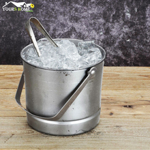 1.5L Premium Stainless Steel Ice Bucket with Strainer & Ice Tong Bar Tools polished stainless steel ice utility tong 30cm length