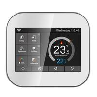 Wifi Color Touch Screen Thermostat For Fan Coil With English Russian Polish Czech Italian Spainish Control