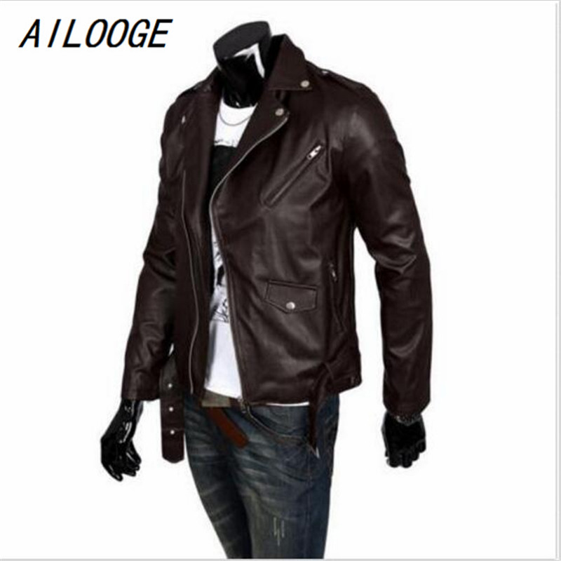 Online Get Cheap Mens Brown Leather Motorcycle Jackets -Aliexpress ...