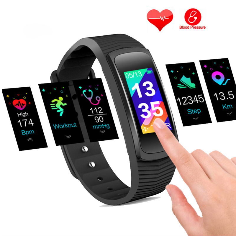 Swimming GPS Sport Tracking Heart Rate Sportwatch Blood Pressure Monitor Color Screen USB Charging Fitness Men's Sports Watches
