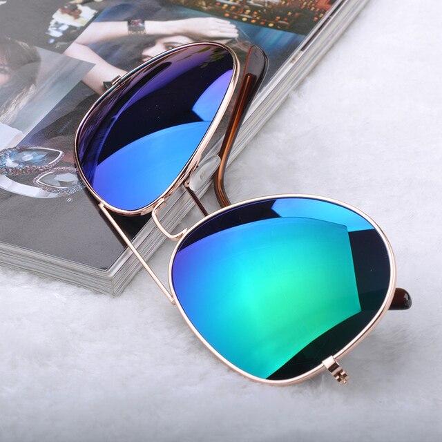 986fa63d44 20118 Unisex Coating Sunglasses Men Women Multi Color Mirror Metal Eyewear  Bat Mirror UV Protection beach