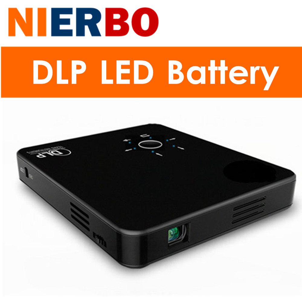 Nierbo mini portable led projector dlp full hd 1080p video for Cheap mini portable projector