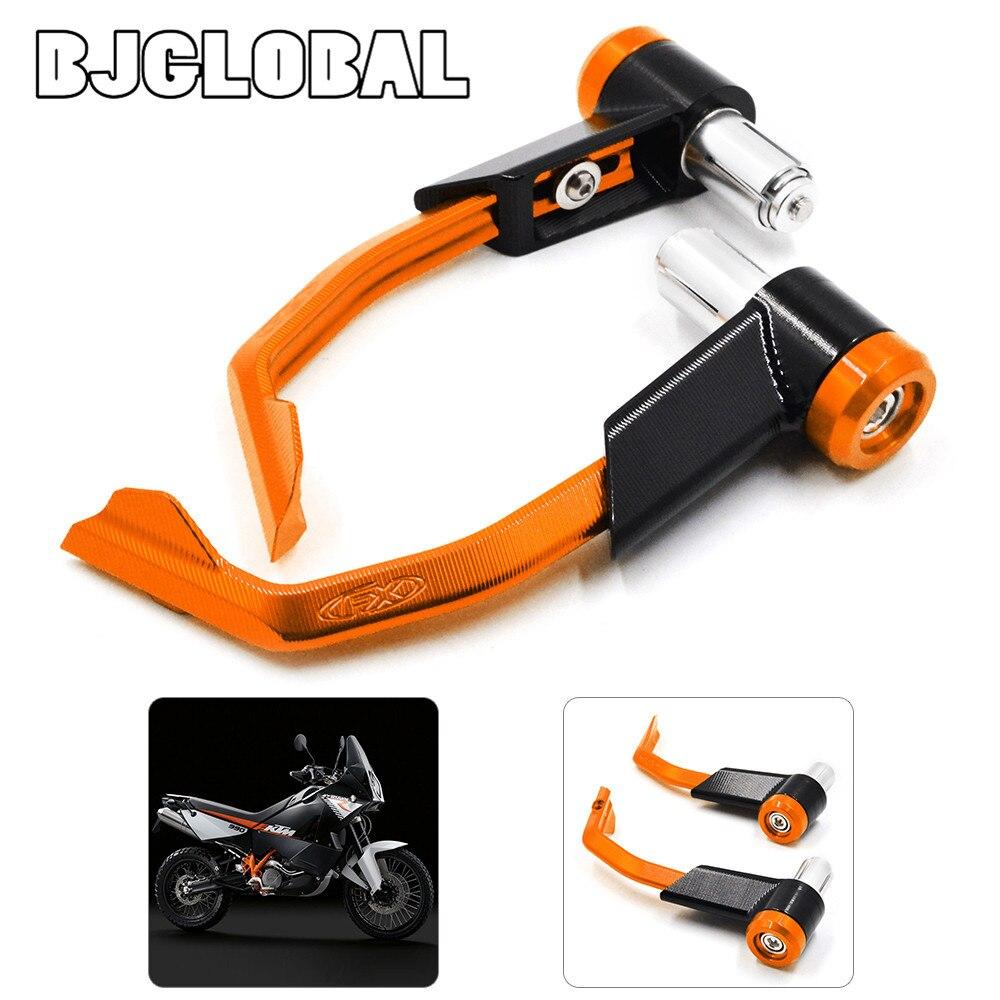 ФОТО LG-007 For KTM 125 200 390 690 990 DUKE Orange Motorcycle CNC Aluminum Proguard Brake Clutch Levers Protect Guard 7/8