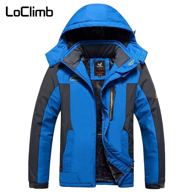 e1614ab903bfd LoClimb Plus Size L-9XL Brand Hiking Jackets Men Waterproof Thick Fleece  Lining Ski Coats Camping Trekking Windbreaker