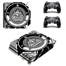Eye of Providence PS4 Pro Pelle Sticker Decal per PlayStation 4 Console e 2 Controller PS4 Pro Autoadesivo Della Pelle Del Vinile