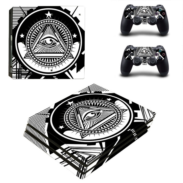 Eye of Providence PS4 Pro Skin Sticker Decal for PlayStation 4 Console and 2 Controllers PS4 Pro Skin Sticker Vinyl