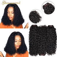 Brazilian Flexi Curls Human Remy Hair Double Drawn Funmi Hair Bundles Kinky Curly Hair Weave Pixie Curl 1 3 4 PCS Natural Color