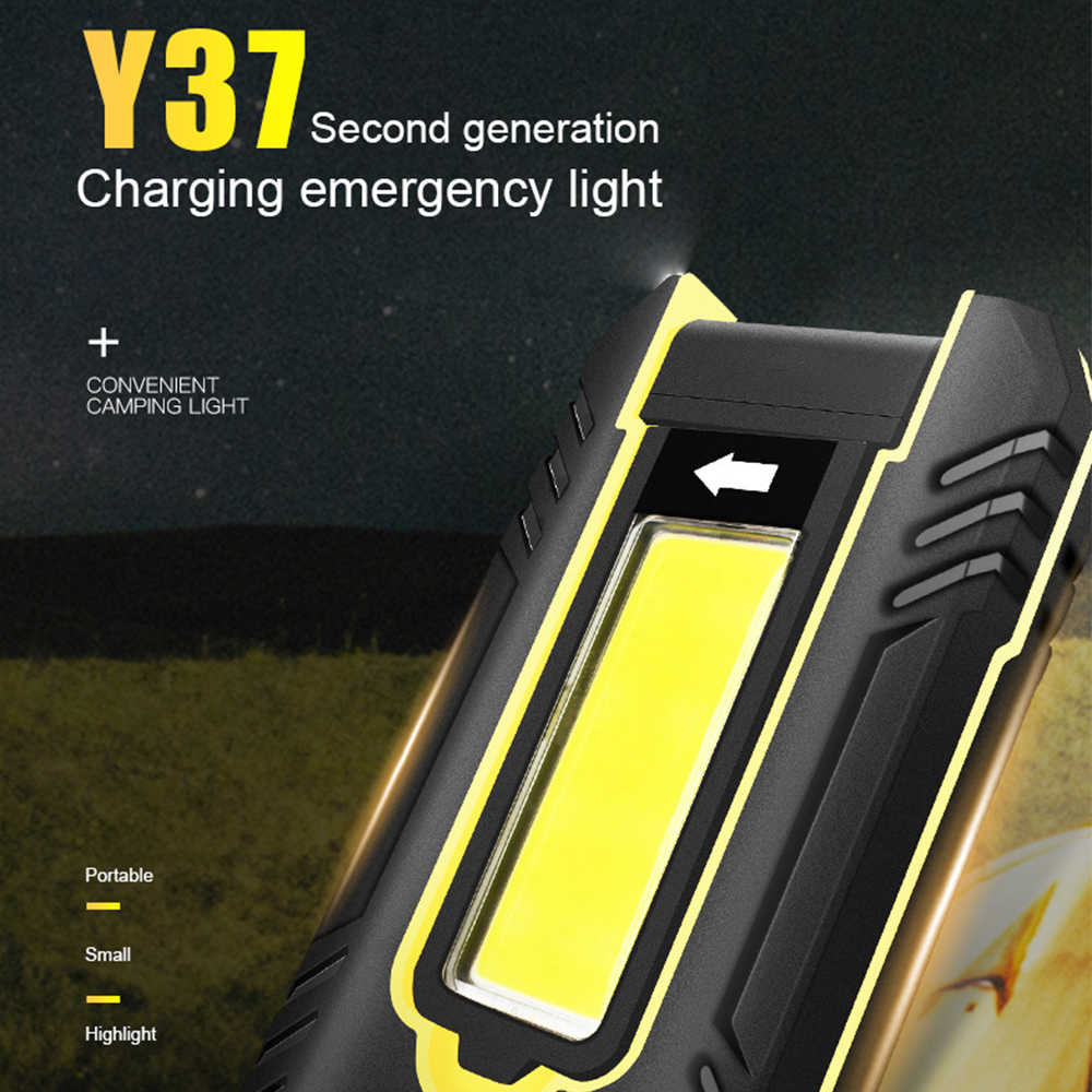 30W Super Bright LED Light Emergency 5V Portable COB Berkemah Tenda Lampu Isi Ulang Power Bank Outdoor Rotasi LED lampu Kerja