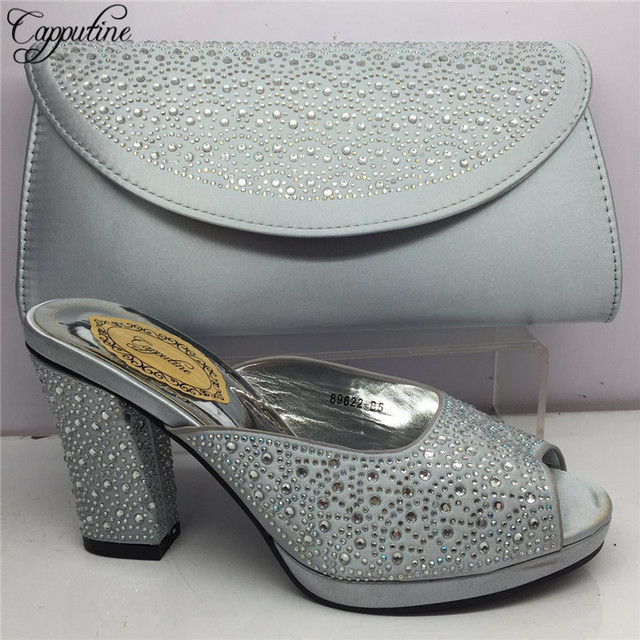 Capputine New Arrival Italian Woman Shoes And Bag Set Africa Style High  Heels 10CM Shoes And Matching Set For Party BL175C fc7d3f73b407
