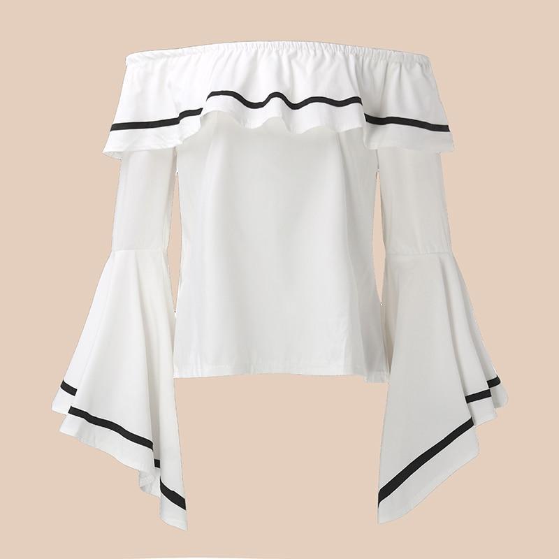 HTB1CBT6PpXXXXaiXVXXq6xXFXXXt - Butterfly Sleeve Slash Neck Off Shoulder Shirts PTC 37