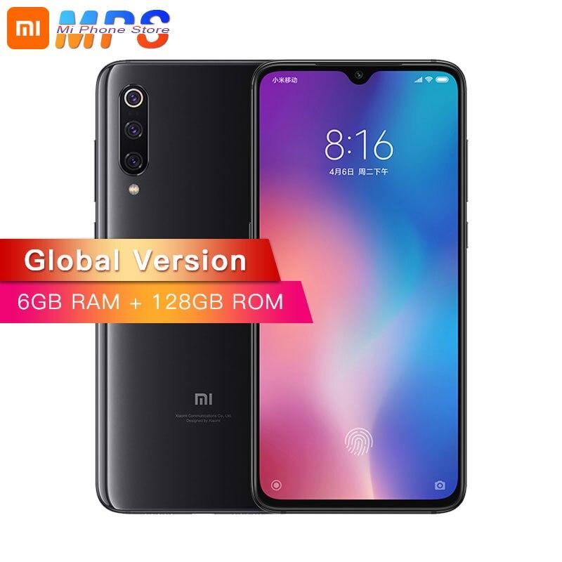 Глобальная версия Xiaomi mi 9 mi 6 ГБ 128 Смартфон Snapdragon 855 Octa Core 6,39 48MP тройной камера в дисплей отпечатков пальцев