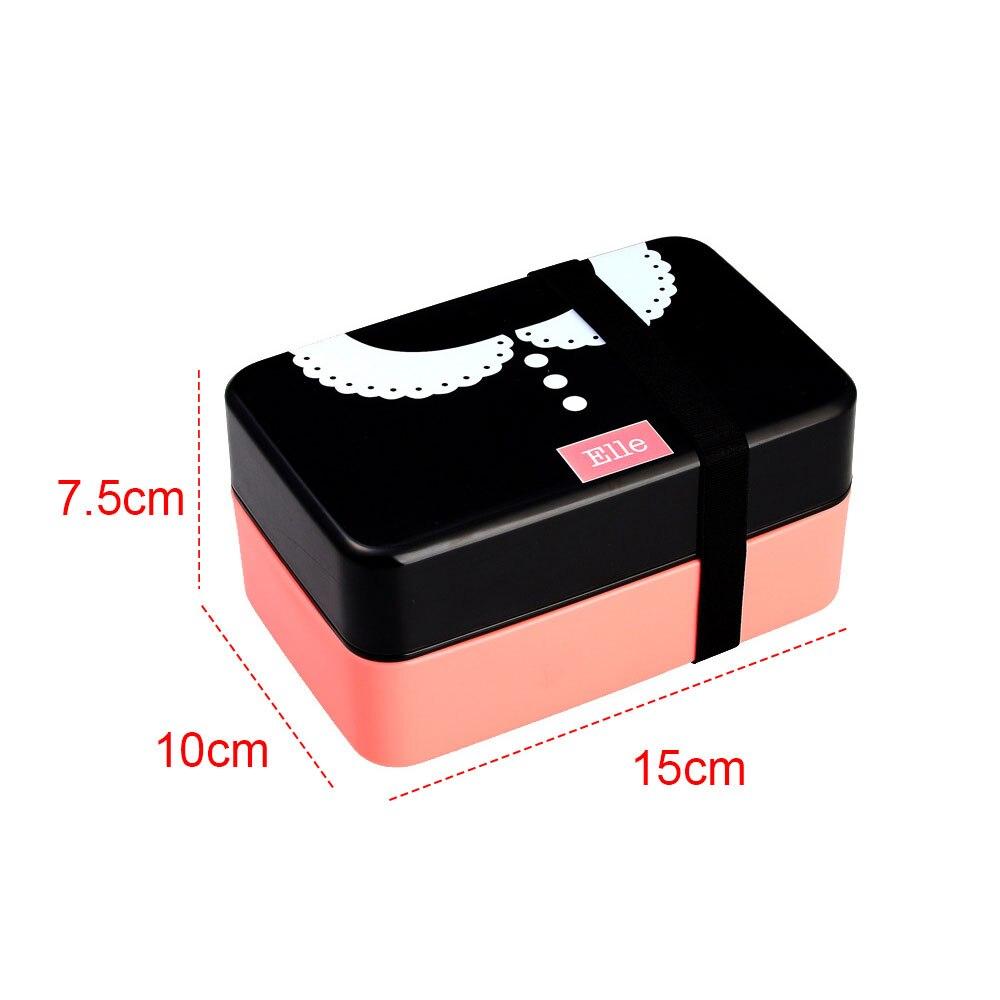 Контейнер Bento для обеда коробка пластик коробки для обедов школы хранения Мода Галстук мини