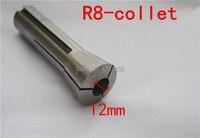 1 قطع r8 كوليت المقبس المشبك قطر 12 ملليمتر متري الحجم رسم بار m12 دعوى ل r8 كوليت تشاك حامل