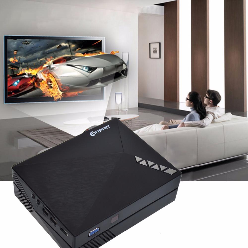 Prix pour 2016 Mise À Niveau Version GM60A Intégré Miracast Airplay Mini LCD Projecteur Soutien 1080 P HD Vidéo Beamer Pour Home Cinéma Système
