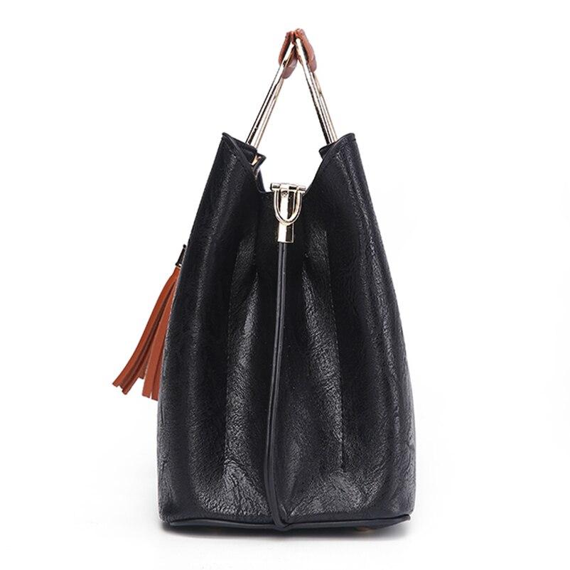 Nevenka Brand Design Women Luxury Handbags Female Tassel Sequined Messenger Bag Quality Leather Tote Solid Zipper Evening Bags13