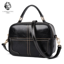 купить Laorentou Women Crossbody Bags Cow Leather Shoulder Bag for Woman Handbags Vintage Fashion Purse Lady Totes Bag Women's Day Gift дешево