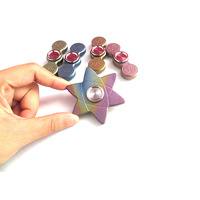 New Fidget Hand Spinner Adults Kid Metal High Speed Bearing Finger Spinners Cube For Autism Stress