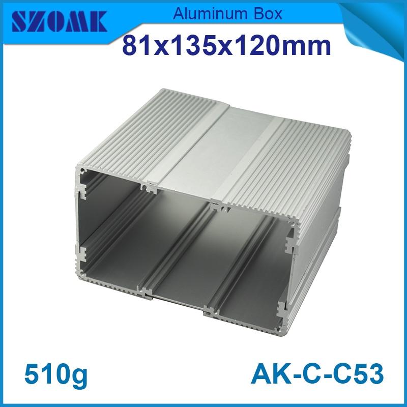 1 piece free shipping aluminium distribution box aluminum electric terminal/junction box 81(H)x135(W)x120(L) mm rack 19 inch aluminum junction box distribution case electronics audio rack 44 5 h x200 w x438 l mm