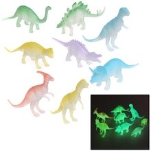 8 pcs Glow In The Dark Noctilucent Dinosaur Figure Toy Gift For Children Kids