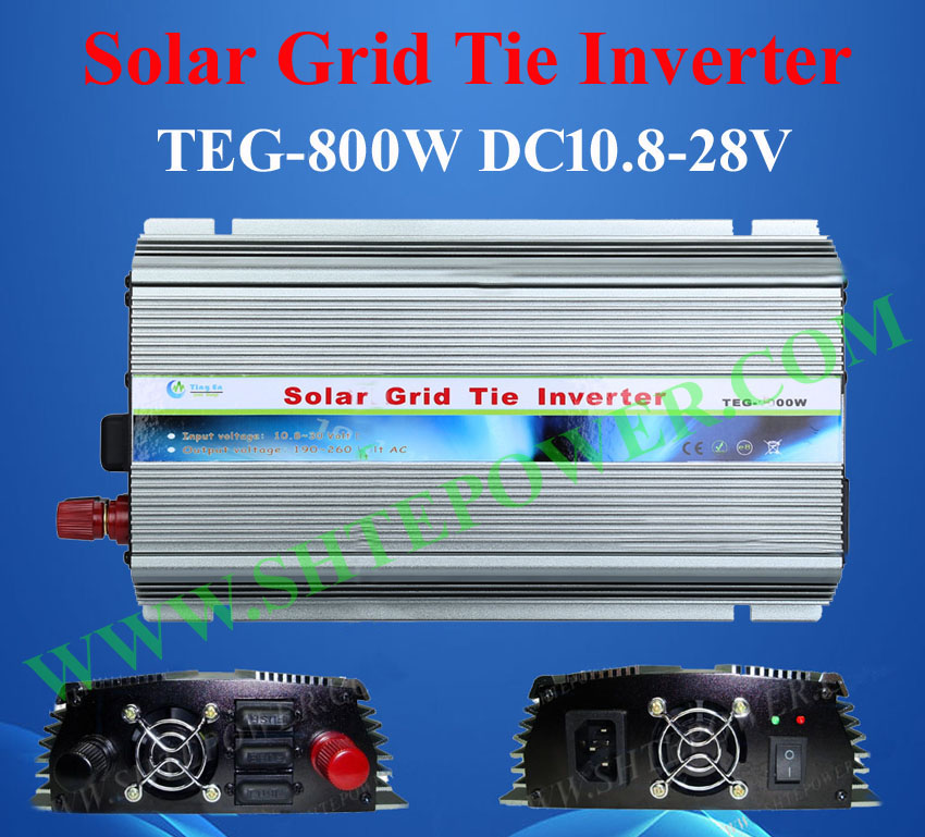 Best panel solar inverter 800W, on grid tie solar system converter, 12vdc to 220vac power inverter solar power on grid tie mini 300w inverter with mppt funciton dc 10 8 30v input to ac output no extra shipping fee
