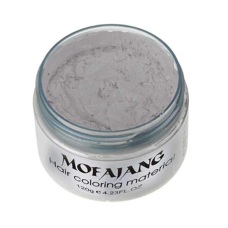 7 colores de crema de tinte temporal para el cabello DIY Granny Grey Color de cera Mud Harajuku estilo de modelado de cabello Dropshipping TSLM2